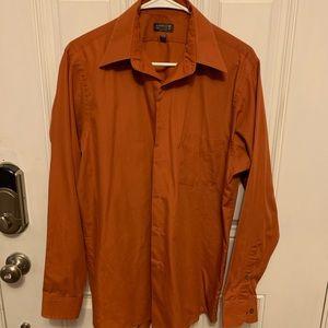 Men's burnt orange dress shirt